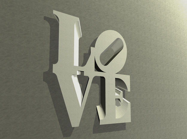 The Love Sculpture Wall decoration 18cm in White Natural Versatile Plastic