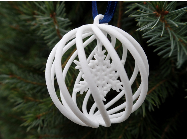 Snowflake Bauble small