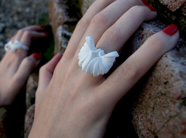 Pumpkin Ring Size 5 3d printed White