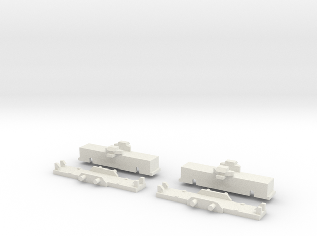 UBL1 Drehgestell ohne Antrieb in White Natural Versatile Plastic