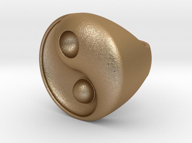 Yin Yang - 6.1 - Chevalière - 16 Mm in Matte Gold Steel