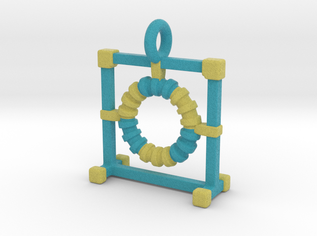 Agility Tire Pendant (Blue Version) in Full Color Sandstone