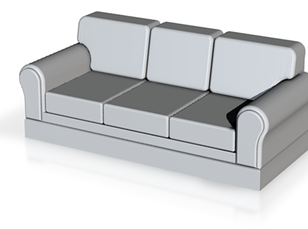 Miniature 1:48 Sofa in White Natural Versatile Plastic