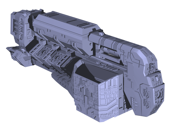 "Somtaaw ""Explorer"" Command Ship 3d printed The fully assembled Fal-Corum"