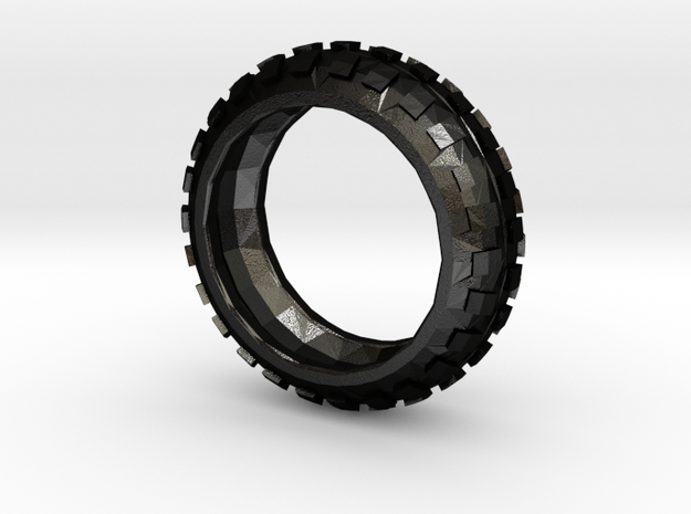Motorcycle/Dirt Bike/Scrambler Tire Ring Size 9 in Matte Black Steel