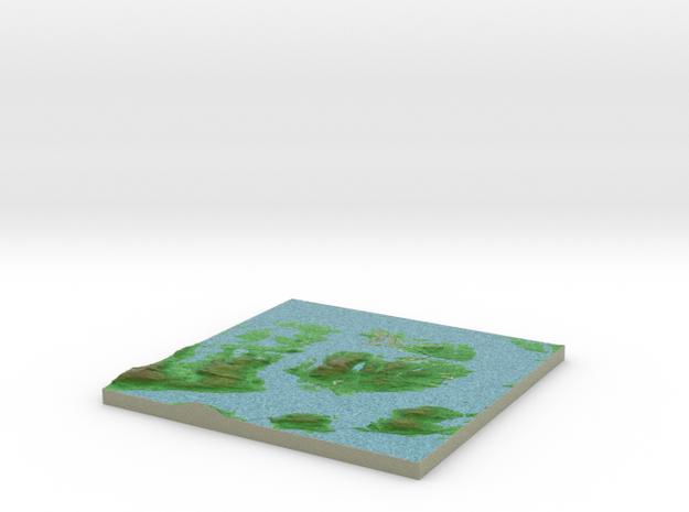 Terrafab generated model Thu Sep 25 2014 11:23:29  in Full Color Sandstone