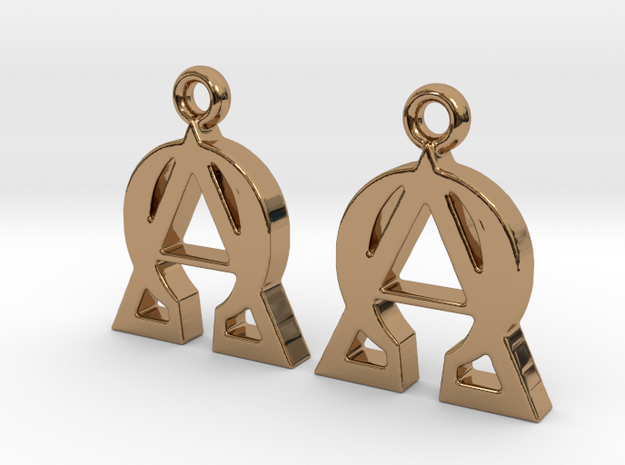 Alpha Omega Earrings 3d printed