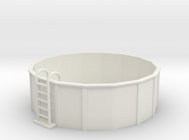 S-Scale 12-Foot Swimming Pool in White Natural Versatile Plastic