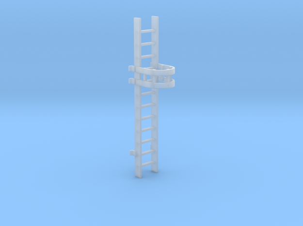 'HO Scale' - 10' Caged Ladder in Smooth Fine Detail Plastic