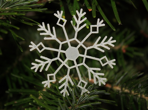 Frozen Snowflake in Smooth Fine Detail Plastic