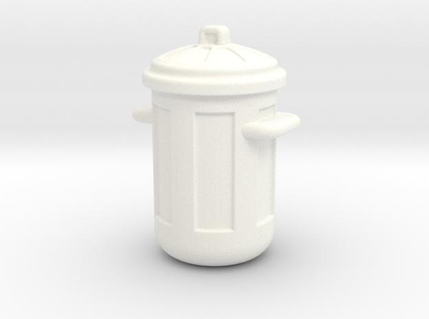 Cubo de Basura Estilo Americano in White Strong & Flexible Polished