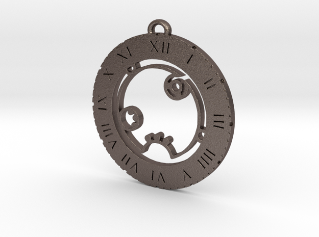Racheal - Pendant in Polished Bronzed Silver Steel
