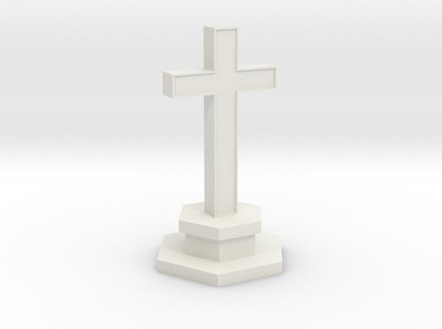 N Scale Cemetery Cross Center Piece 1:160 in White Natural Versatile Plastic