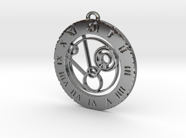 Mollie - Pendant in Fine Detail Polished Silver