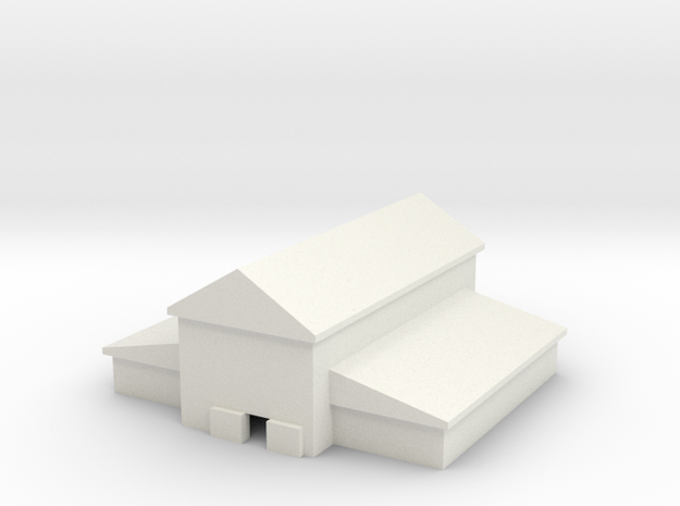 1/600 Large Barn in White Natural Versatile Plastic