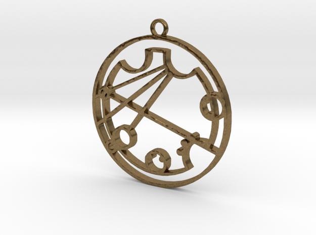 Krystina - Necklace in Raw Bronze