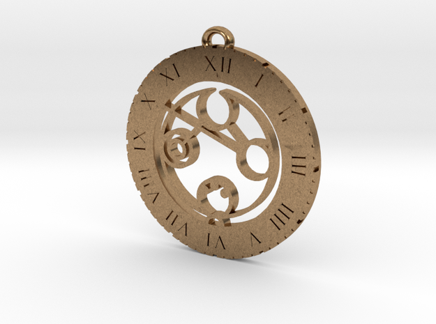 Daphne - Pendant in Natural Brass