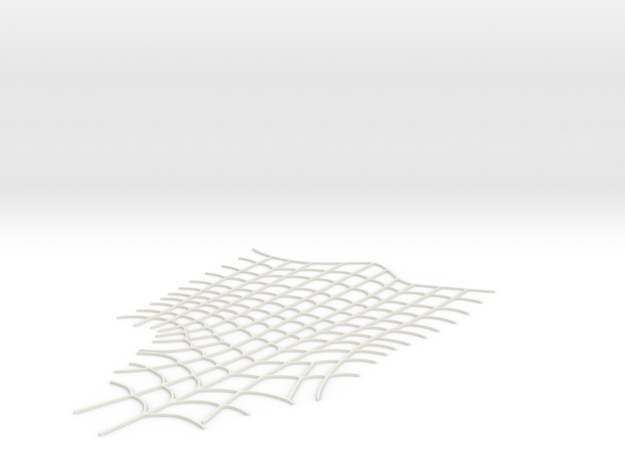 Spider-Man Right Boot Webbing (fits kenlandrum pri in White Natural Versatile Plastic