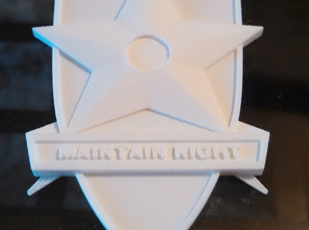 Main Force Patrol Badge (from the first Mad Max) in White Natural Versatile Plastic