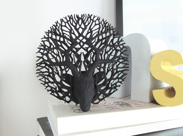 Tree deer stag wall decoration