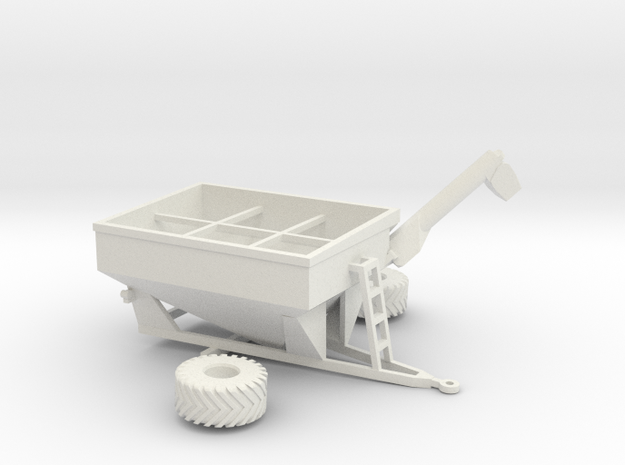 1:160/N-Scale Grain Cart 875 in White Strong & Flexible