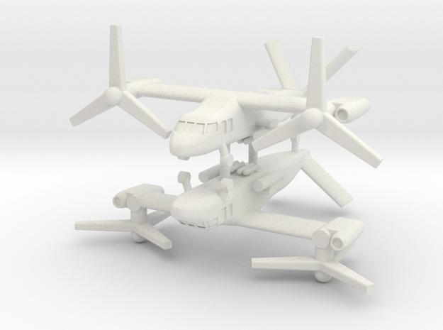 1/285 Bell V-280 Valor (x2) (Attack) in White Strong & Flexible