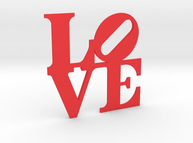 The Love Sculpture miniature in Red Processed Versatile Plastic