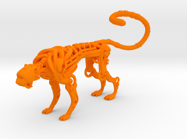Cheetah-bot in Orange Processed Versatile Plastic