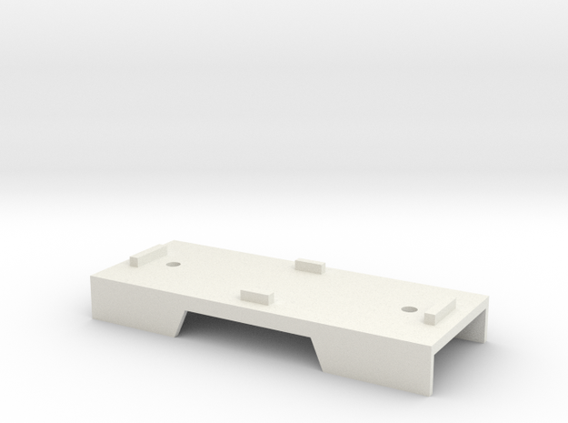 Base Carriage Europe #4 (n-scale) in White Natural Versatile Plastic