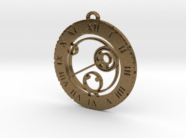 Kallie - Pendant in Raw Bronze