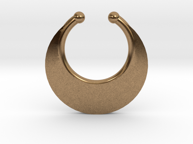 Faux Septum Ring - Crescent (small) in Natural Brass