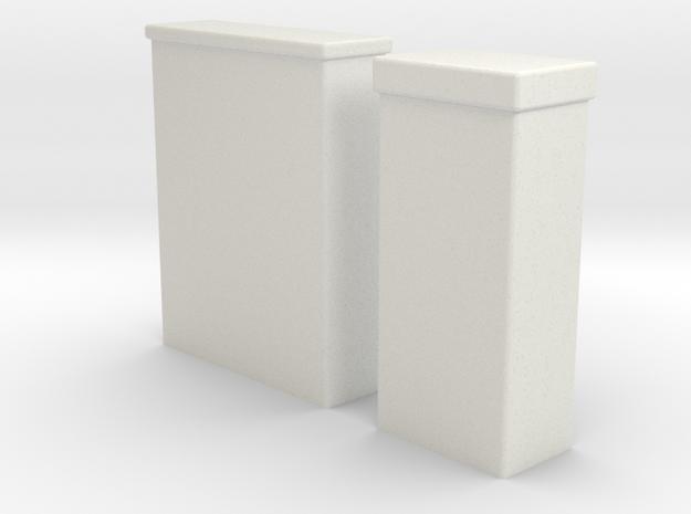 Kabelboks til El og Tv 1/87 in White Natural Versatile Plastic