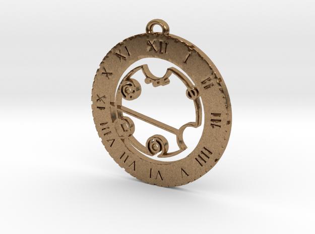 Beverley - Pendant in Natural Brass