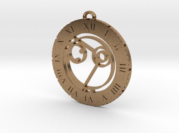 Anika - Pendant in Natural Brass