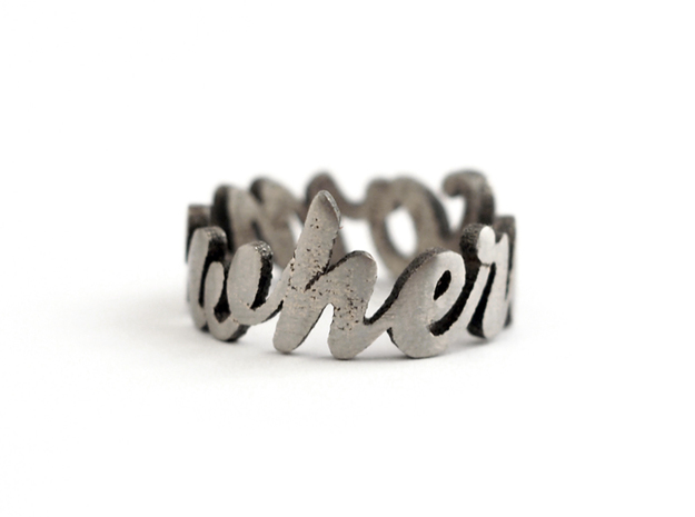 Somewhere Ring (various sizes) 3d printed Stainless Steel (polished)