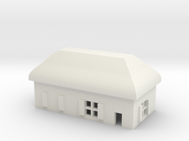 1/600 Village House 5 in White Natural Versatile Plastic