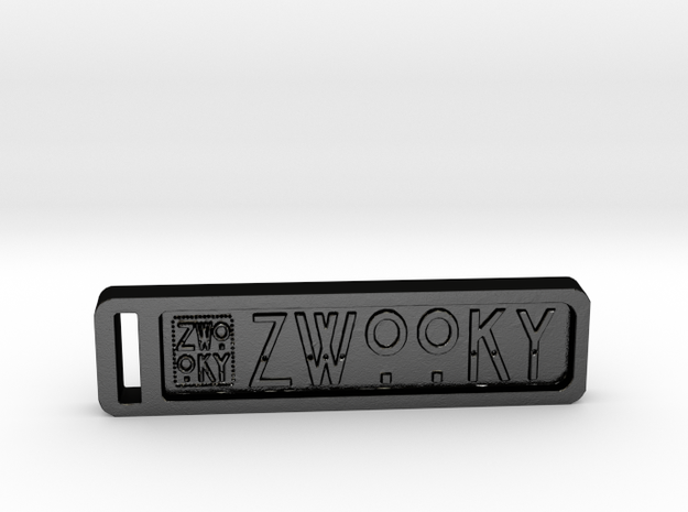 ZWOOKY Keyring 34 rounded 5cm 4.5mm in Matte Black Steel