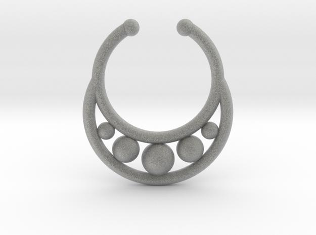 Faux Septum Ring - peapod in Metallic Plastic