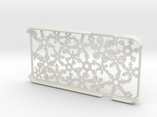 Snowflake iPhone6 4.7inch case  in White Natural Versatile Plastic