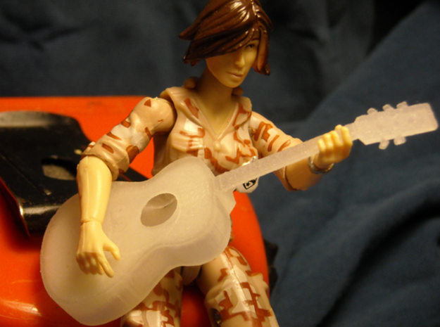 1/18 Acoustic Guitar 3d printed