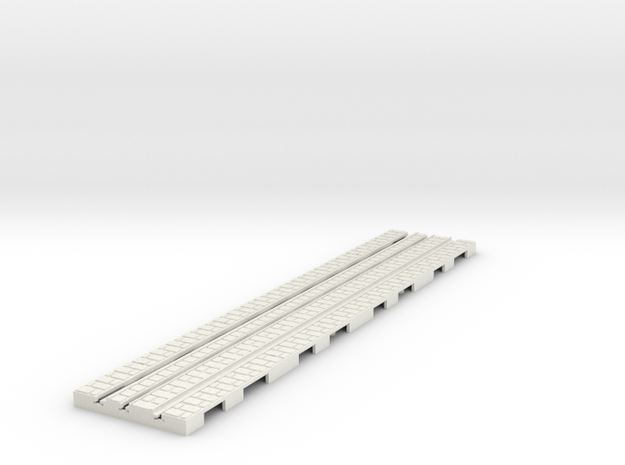 P-9-165st-long-straight-1a in White Natural Versatile Plastic