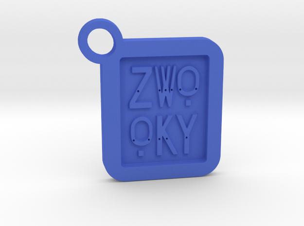 ZWOOKY Keyring LOGO 14 4cm 4mm  in Blue Processed Versatile Plastic