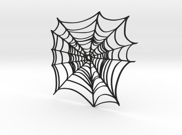 Simple Spider Web in Black Natural Versatile Plastic