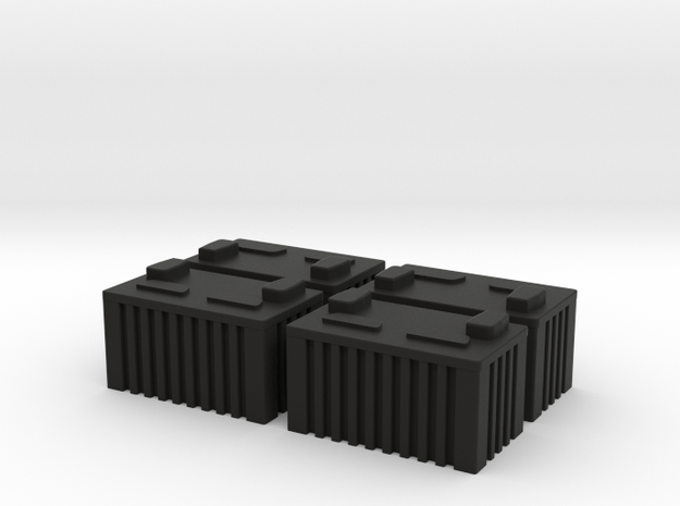BATTERY X 4 1/16th Scale in Black Natural Versatile Plastic