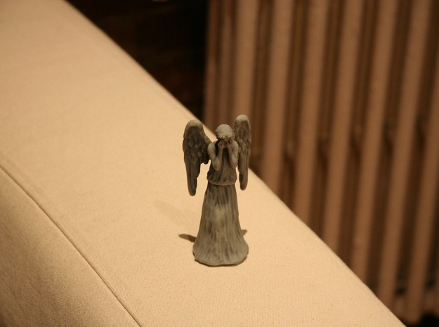 Some Call Me a Weeping Angel.. 3d printed Yes, I am on the arm of an IKEA couch.