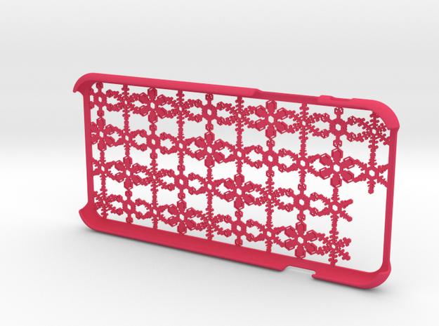 Snowflake iPhone6 4.7inch case in Pink Processed Versatile Plastic