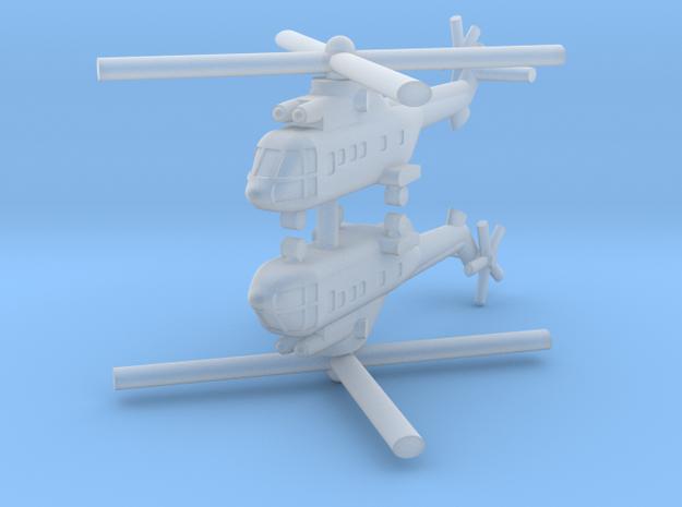 1/285 AS-332 Super Puma (x2) in Smooth Fine Detail Plastic