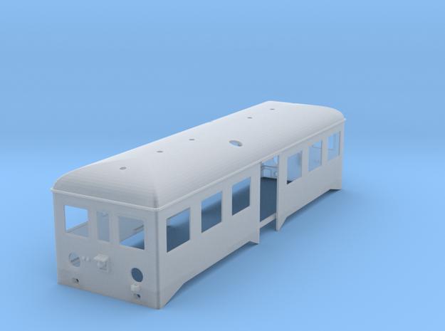 Caisse remorque autorail in Smooth Fine Detail Plastic
