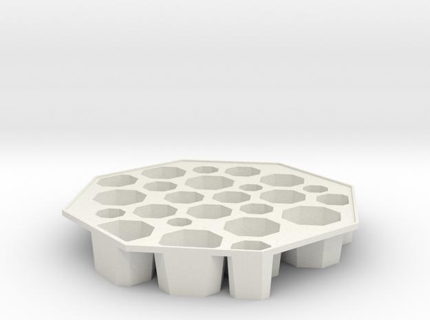 'Bogotá' Ice tray in White Strong & Flexible