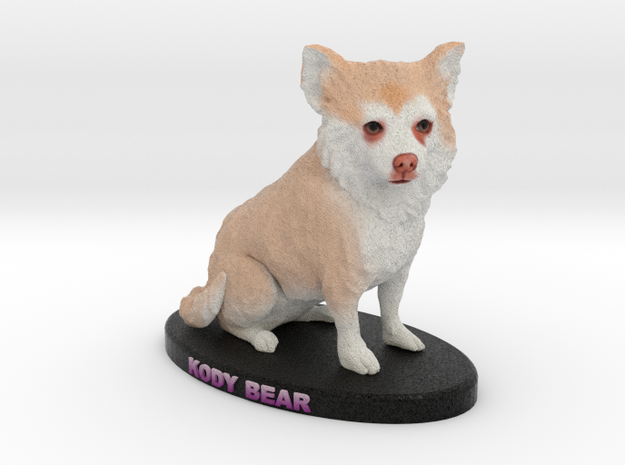 Custom Dog Figurine - Kody in Full Color Sandstone